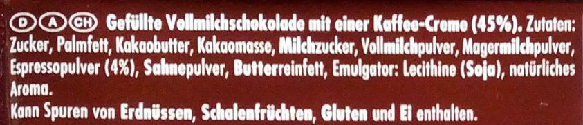 Ritter Sport Espresso - Ingrediënten