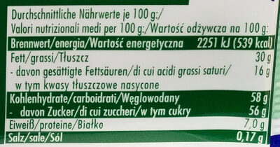Mandel Zauber - Informations nutritionnelles - de
