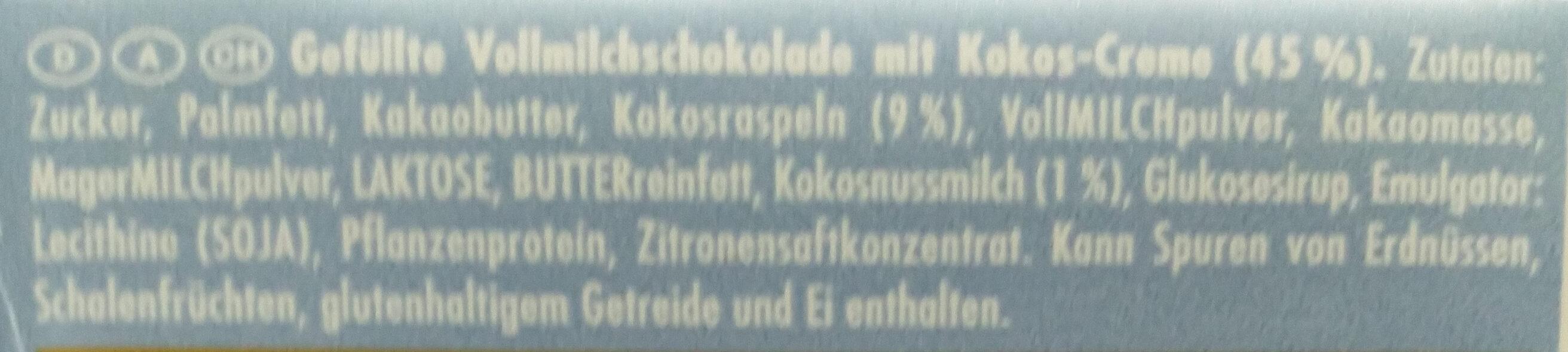 Ritter Sport Kokos - Ingrediënten - de