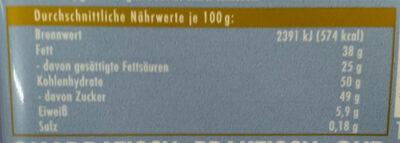 Ritter Sport Kokos - Voedingswaarden - de