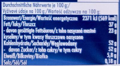 Kokosmakrone - Informations nutritionnelles - de