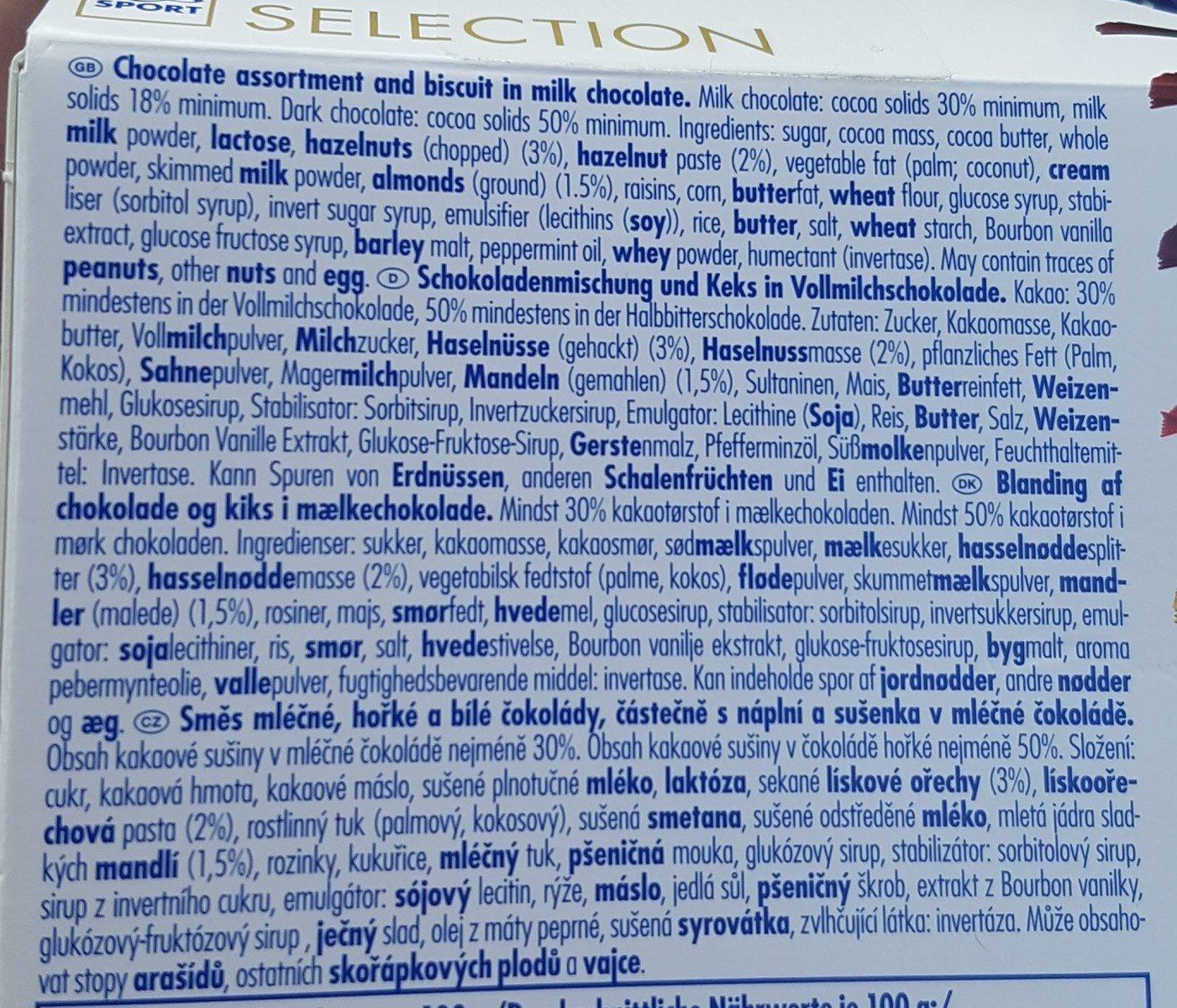 Selection - Ingredients - es