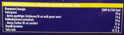 Grosse Liebe Nugat - Voedingswaarden