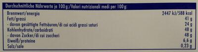 Tag Traum Joghurt - Voedingswaarden