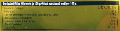 Ritter Sport Goldschatz - Voedingswaarden - de