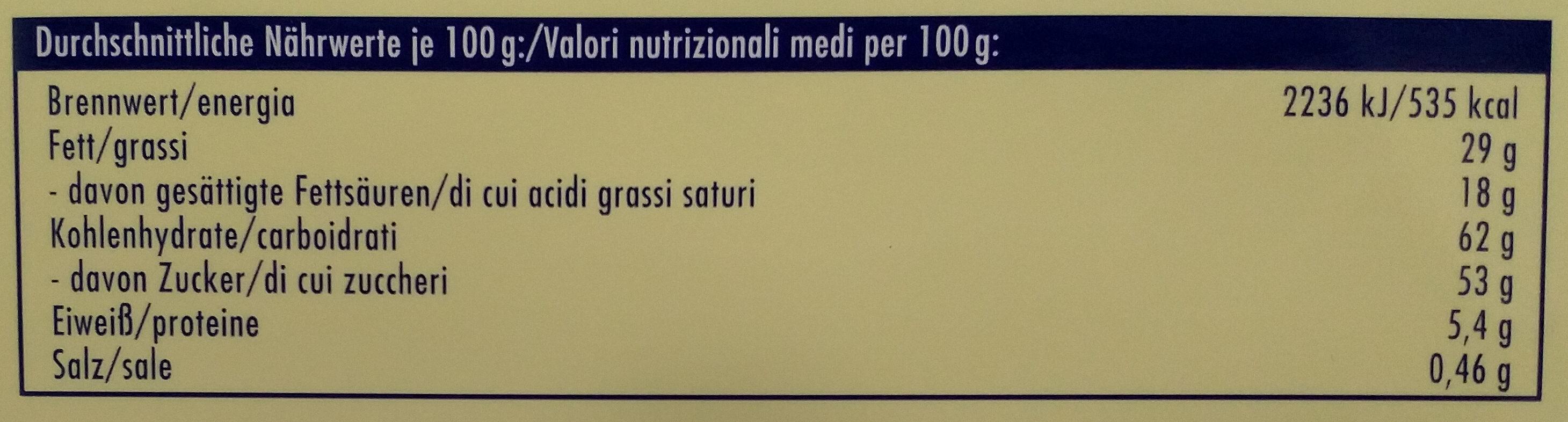 Helle Freude Weiß + Crisp - Voedingswaarden