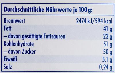 Ritter Sport Schokowürfel weiß - Nutrition facts