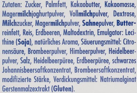 Ritter Sport Schokowürfel joghurt - Inhaltsstoffe - de