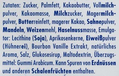 Ritter Sport Schokowürfel dessert - Ingredients