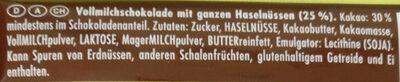 Cioccolato Nocciole intere - Ingredients - de