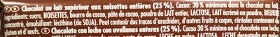Voll-Nuss - Ingrédients - fr