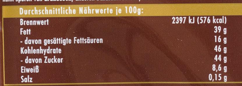 Voll-Nuss - Informations nutritionnelles - fr