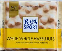 White whole hazelnuts - Product