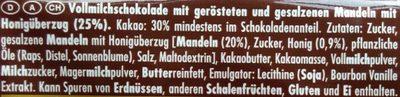 Honig-Salz-Mandel - Inhaltsstoffe
