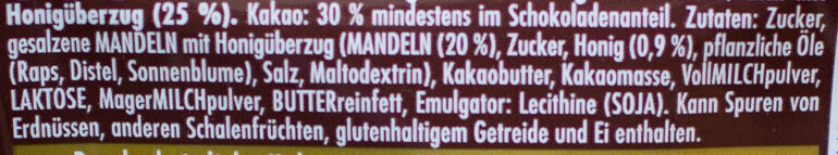 Honig-Salz-Mandel - Zutaten - de