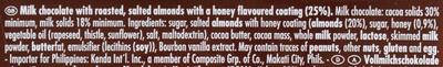 Honig-Salz-Mandel - Ingredients