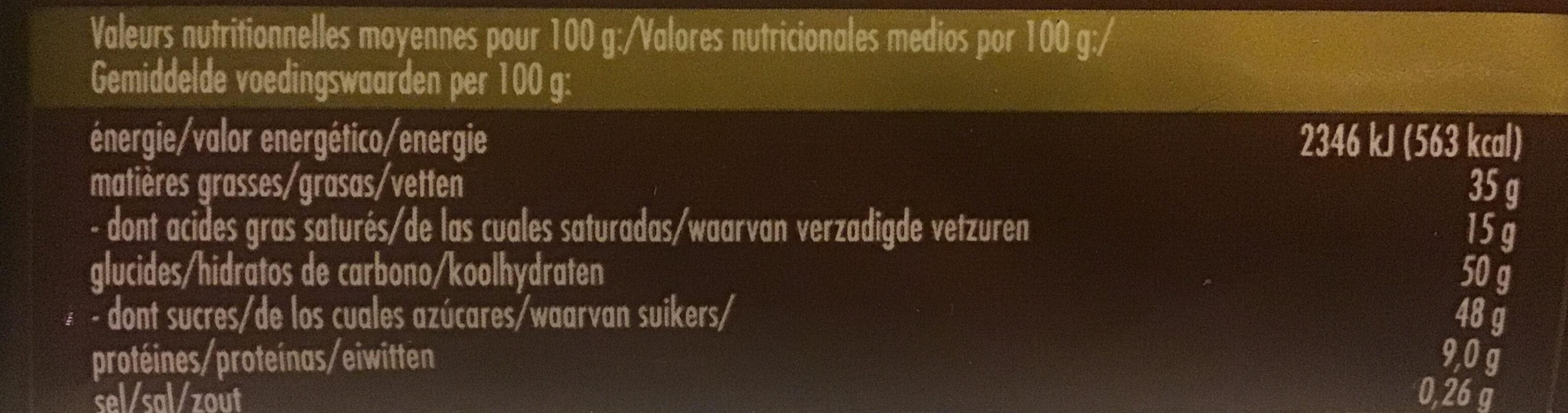 Mandorle salate e miele - Voedingswaarden - nl