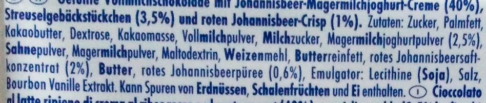 Johannisbeer Streusel - Ingredients