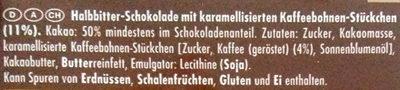 Kaffeesplitter - Ingrediënten