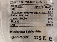 Gemischte Mandeln - Informations nutritionnelles - de