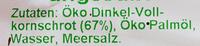 Dinkel Zoo ungesüßt - Inhaltsstoffe