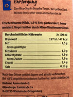 Unsere Weidemilch - Ingredienti - de