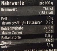 Westfälischer Pumpernickel - Informations nutritionnelles