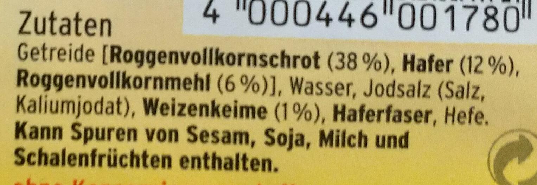 Fitnessbrot - Ingredients - de