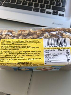 Fitnessbrot - Ingredients