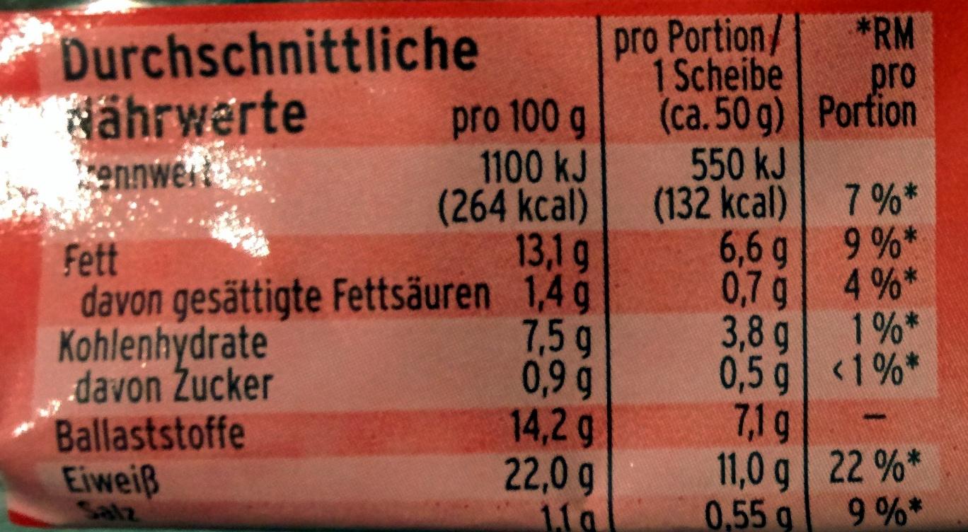 Eiweißbrot - Nutrition facts