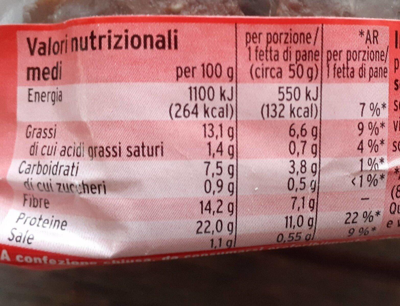 Eiweißbrot - Informations nutritionnelles - fr