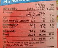Eiweiss Toastbrötchen - Valori nutrizionali - de