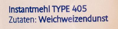 Instant Mehl Type 405 - Ingredients