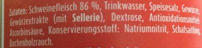 Meica Deutschländer - Inhaltsstoffe