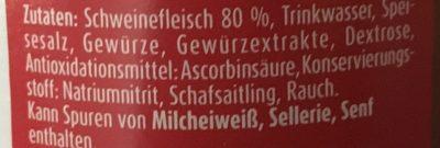 Meica Frankfurter-würstchen 6ST Extra Knackig 540g - Inhaltsstoffe