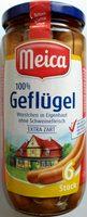 Geflügel-Würstchen in Eigenhaut - Product