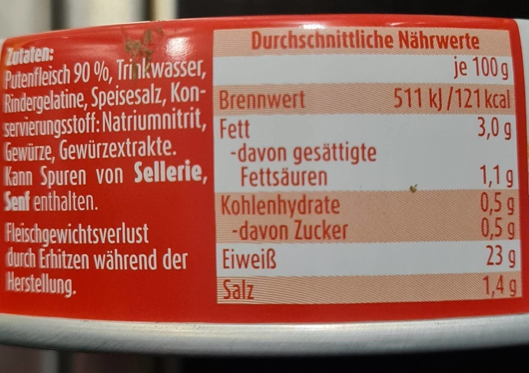 Putenfleisch - Nährwertangaben - de