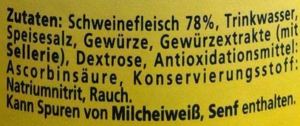 Land Bockwurst - Ingrédients