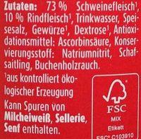 Bio-Wiener - Inhaltsstoffe