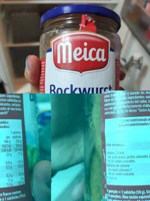 Salchichas cocidas Bockwurst - Informació nutricional