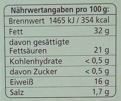 Ofenkäse Bunter Pfeffer-Mix - Nutrition facts