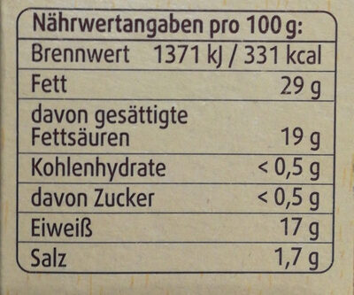 Rougette Ofenkäse - Voedingswaarden - de