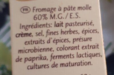 Fromage au four - fines herbes - Ingrediënten - fr
