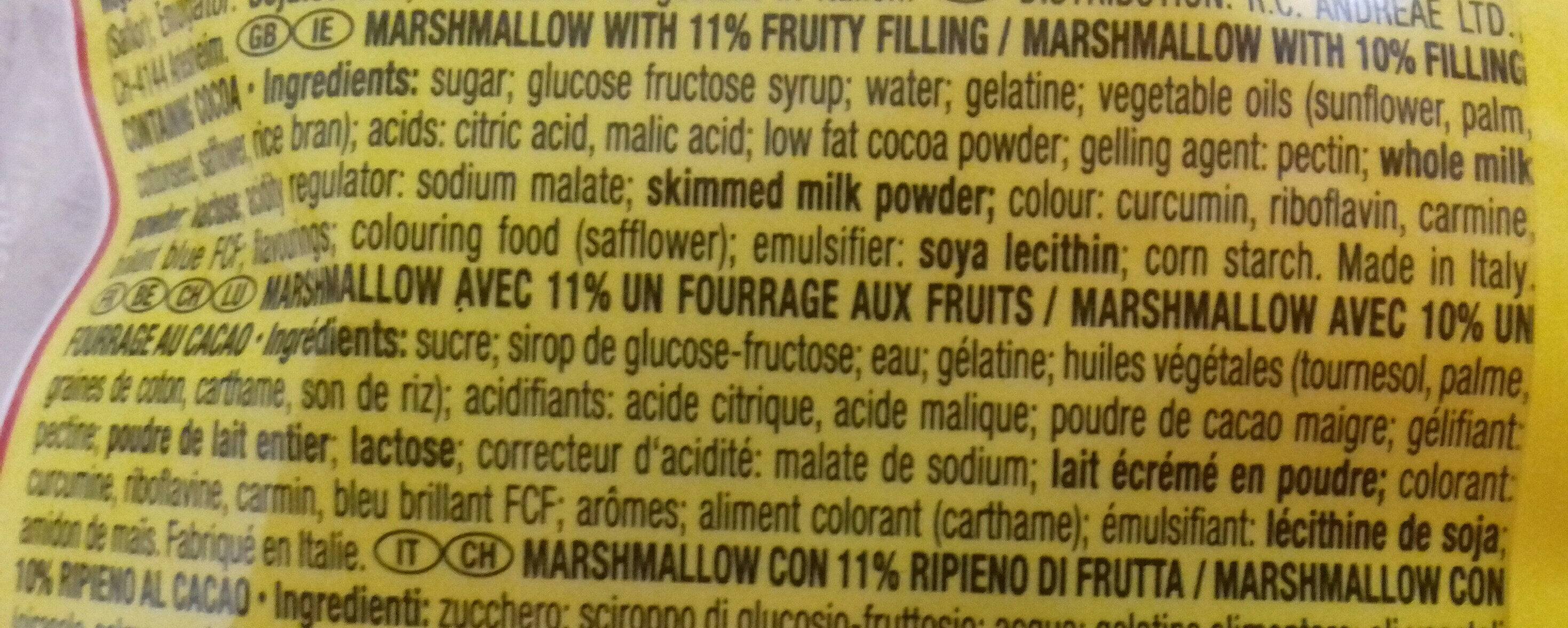 MallowStars - Ingredienti - fr
