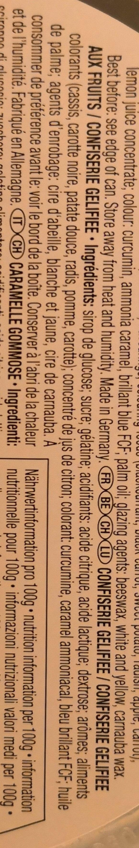 Trolli No. 1 Bunte Fruchtgummi- Mischung - Ingredienti - fr