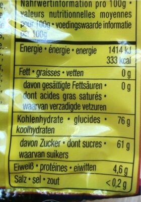 Sour Glowworms - Nutrition facts - en