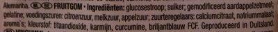 Gummi Candy - Ingrediënten - nl