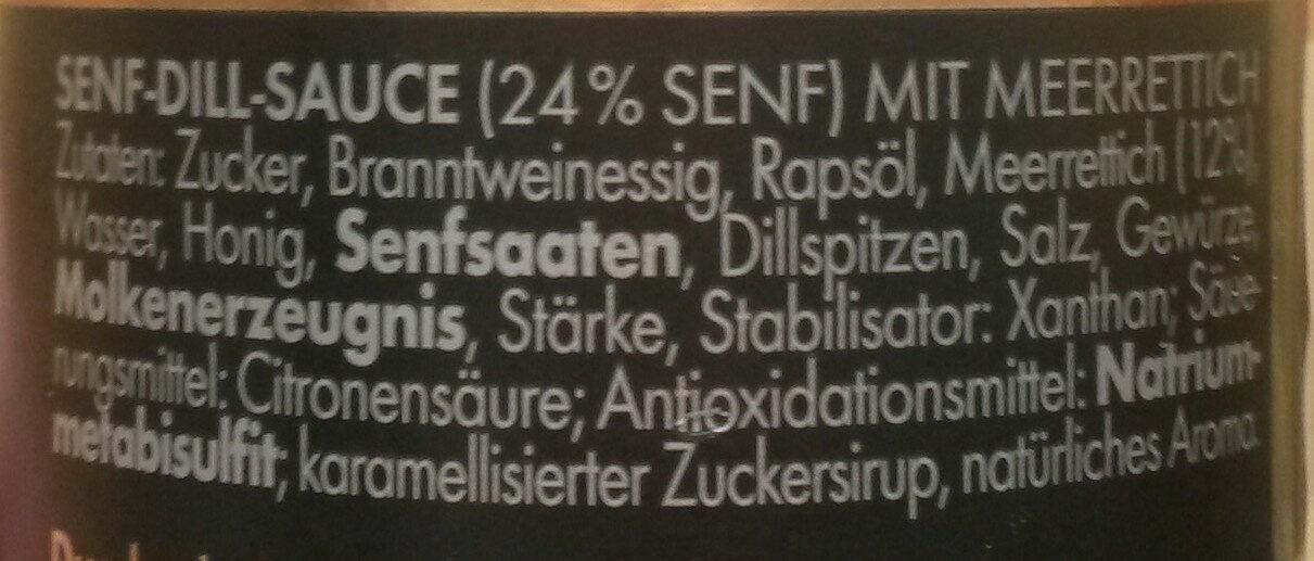 Gravadine senf-dill -sauce - Ingrédients - de