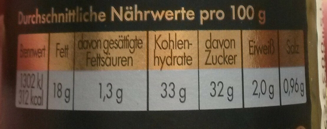 Gravadine senf-dill -sauce - Informations nutritionnelles - de