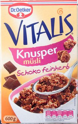 Vitalis Knusper Müsli Schoko feinherb - Product